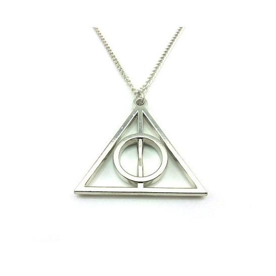 Harry Potter - relikvie smrti náhrdelník (stříbrný)