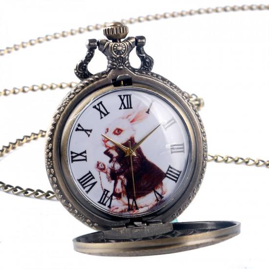 Alenka v říši divů - Náhrdelník kapesní hodinky
