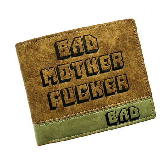 Peněženka Pulp Fiction - Bad Motherfucker (žlutozelená)