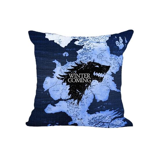 Polštáře Game of Thrones (Hra o Trůny) - Winter Is Coming (modrý)