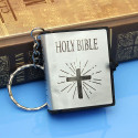 Klíčenka Constantine - Bible (stříbrná)