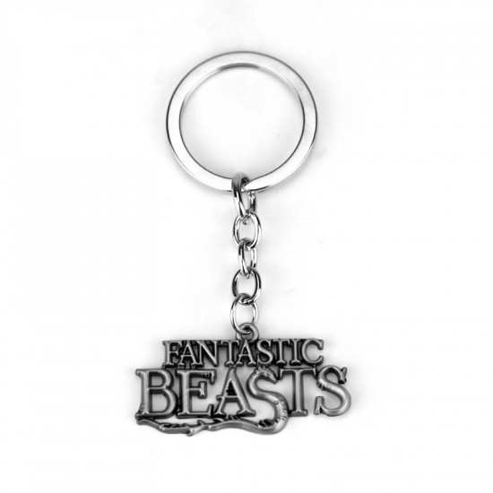 Klíčenka Fantastická zvířata - logo (stříbrné)