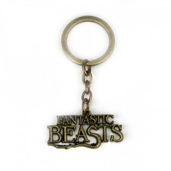 Klíčenka Fantastická zvířata - logo (bronzové)