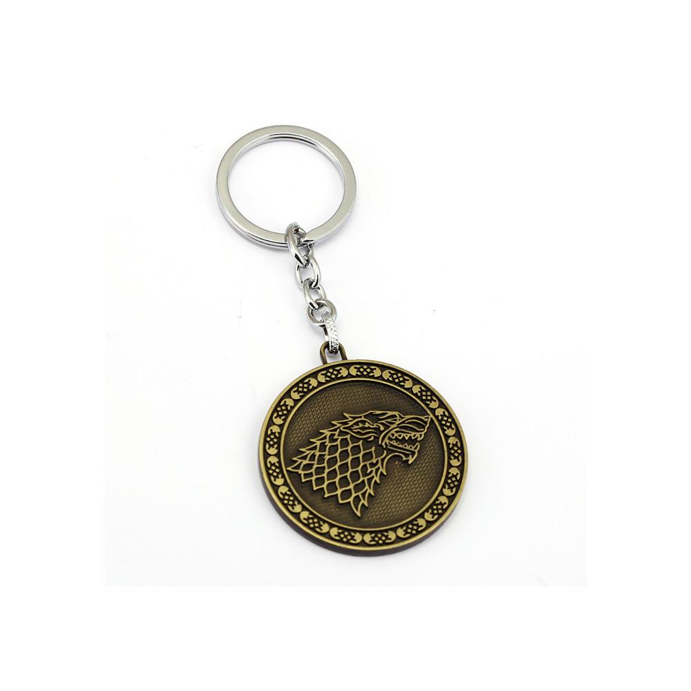 Klíčenka Game of Thrones (Hra o trůny) - Stark mince (bronzová)