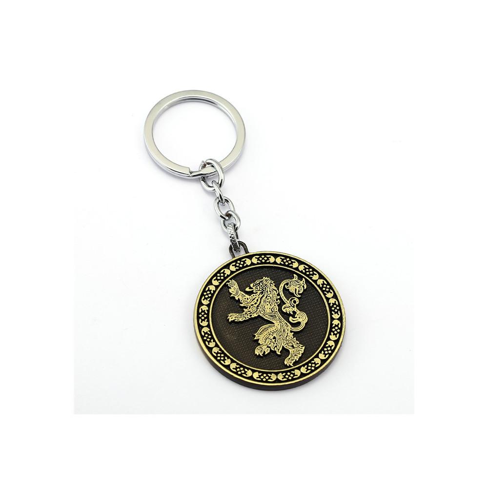 Klíčenka Game of Thrones (Hra o trůny) - Lannister mince (bronzová)