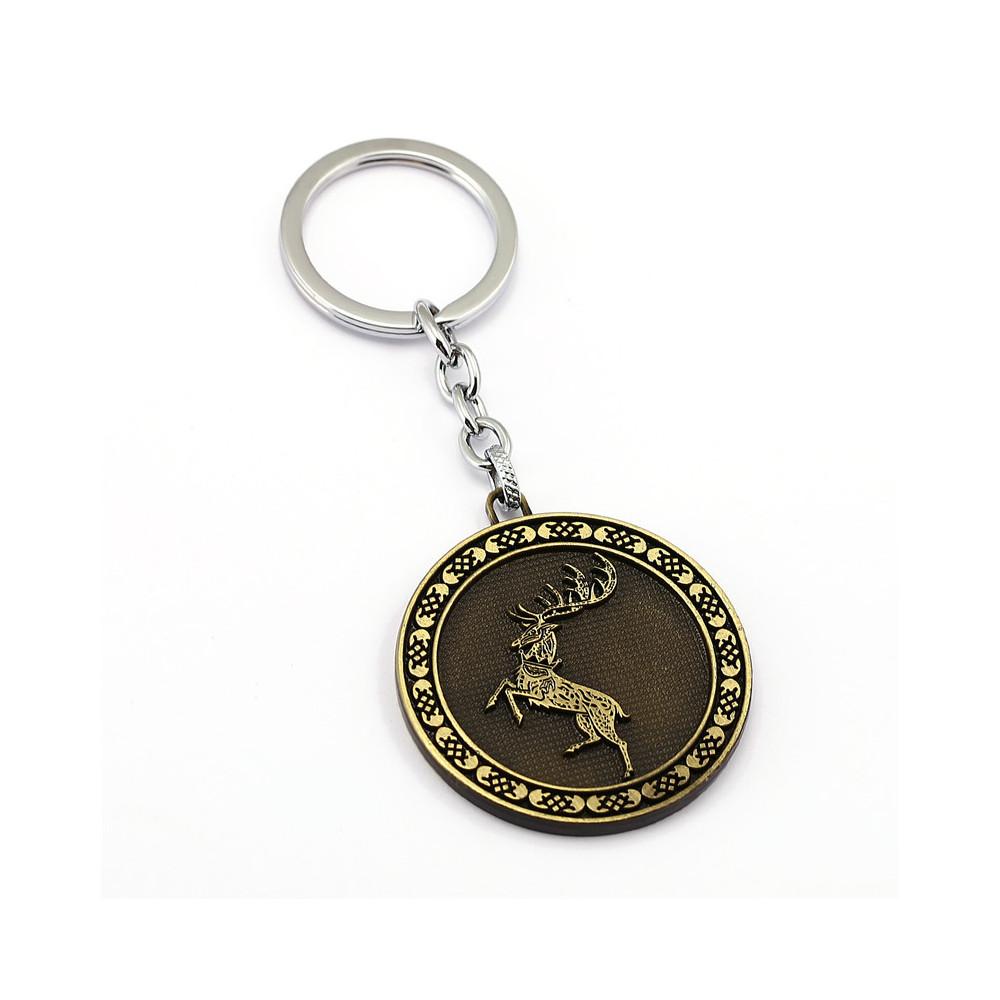 Klíčenka Game of Thrones (Hra o trůny) - Baratheon mince (bronzová)