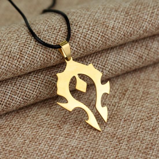 Přívěsek Warcraft - Za Hordu (zlatý)