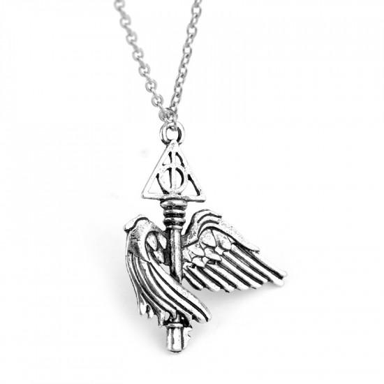 Řetízek Harry Potter - Relikvie smrti s křídly