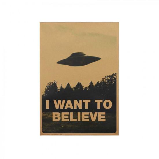 Plakát UFO - Chci uvěřit