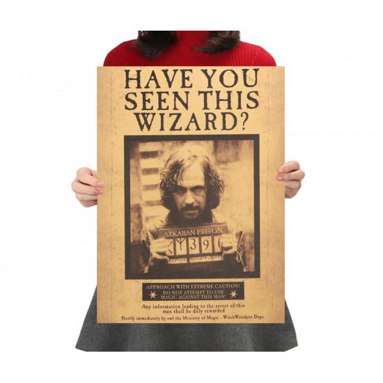 Plákat Harry Potter - hledaný Sirius Black