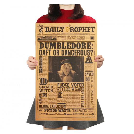 Plakát Harry Potter - Albus Brumbál zmatený nebo nebezpečný?
