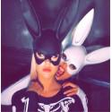 Playboy maska (bílá)