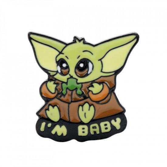 Brož Baby Yoda I'm Baby  (The Mandalorian)