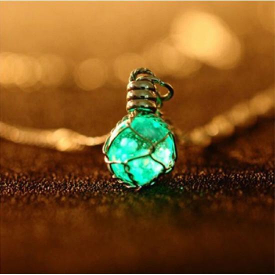 Náhrdelník Upíří Deníky - Noční perla (svítící ve tmě)