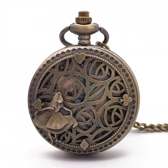 Kapesní hodinky Alenka v říši divů