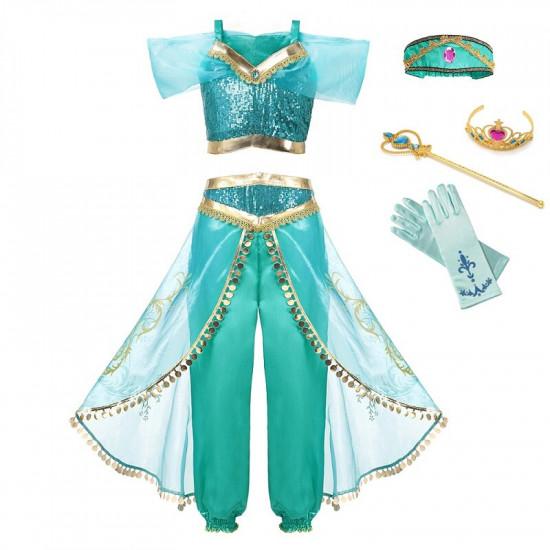 Dětský kostým Aladin - Jasmina + příslušenství