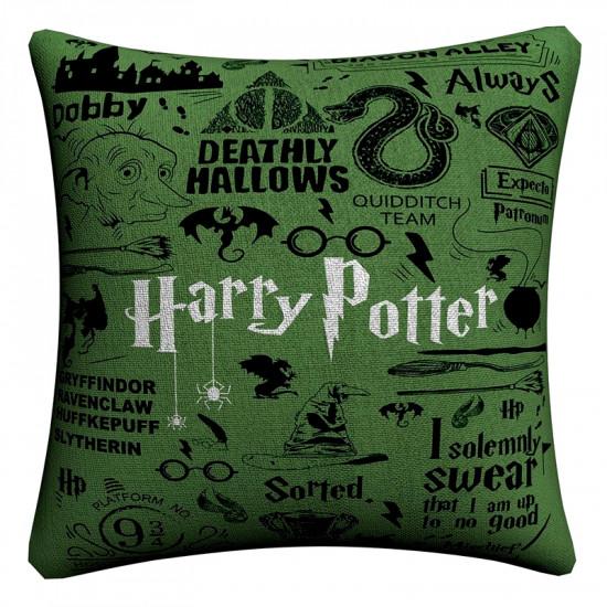 Polštář Harry Potter (zelený)