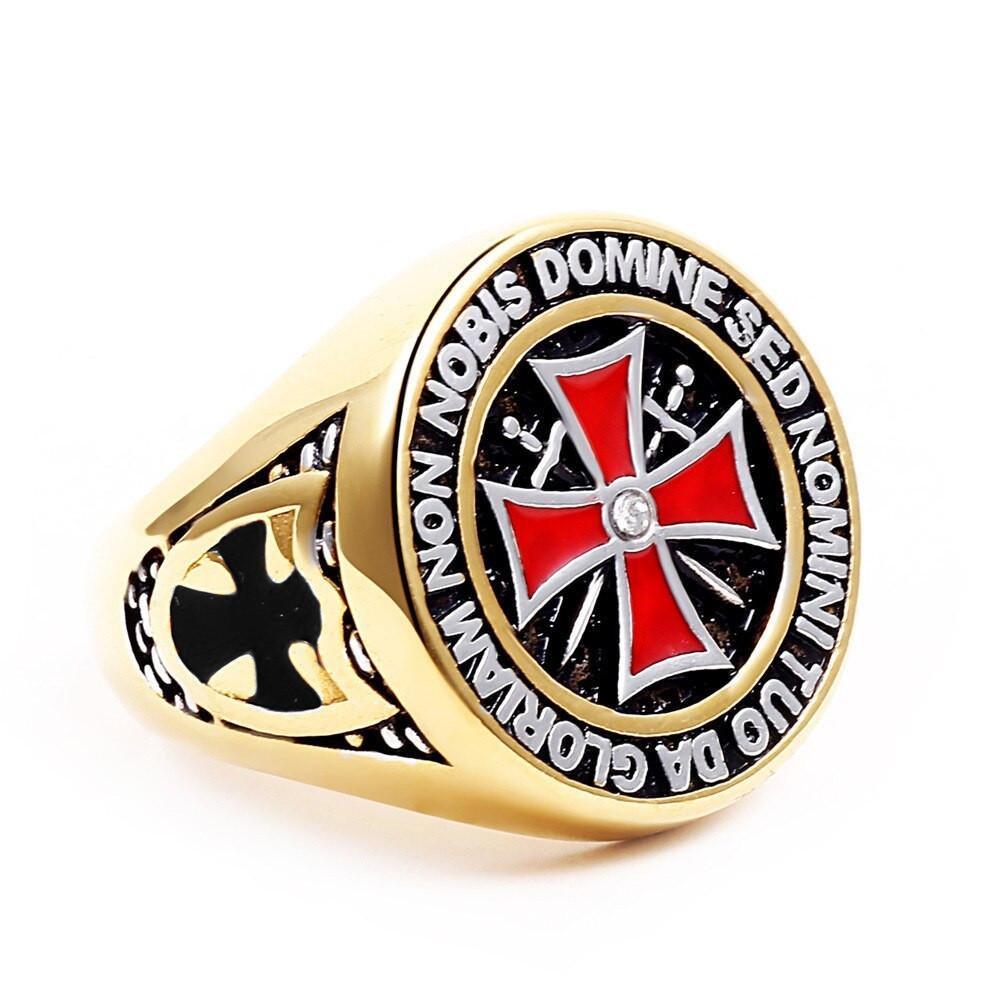 Prsten Království nebeské - Templáři (černý kříž)