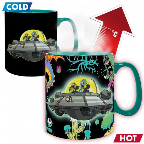 Hrnek - Rick & Morty Spaceship - mění barvu