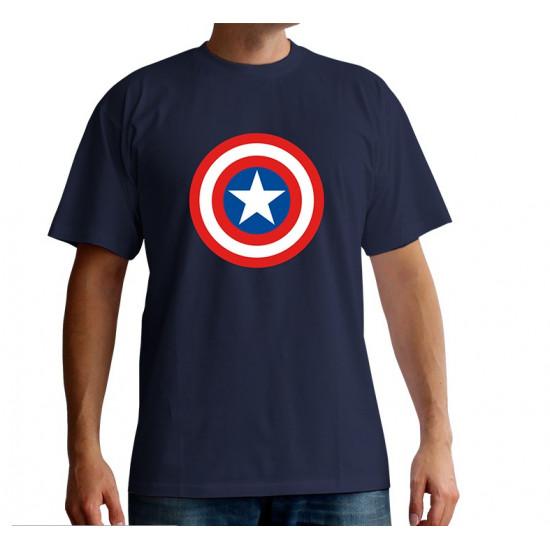 """Triko Marvel - """"Captain America Logo"""""""