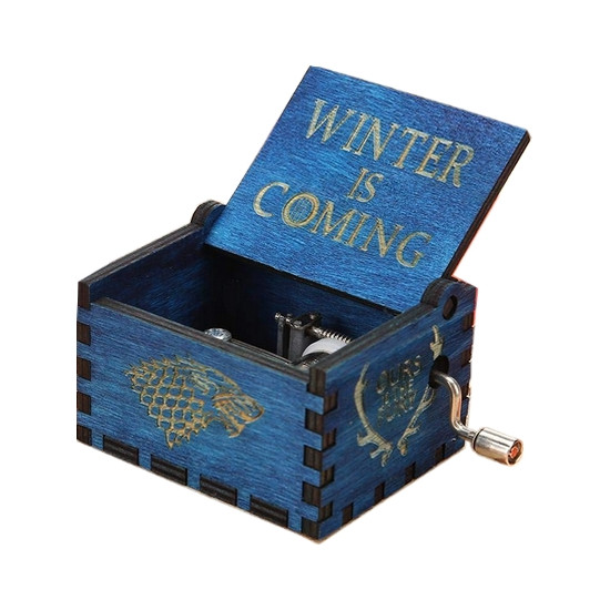 Hrací skříňka Hra o trůny (Game of Thrones) - Winter Is Coming (modrá)