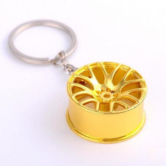 Klíčenka Rychle a zběsile - disk (zlatá)