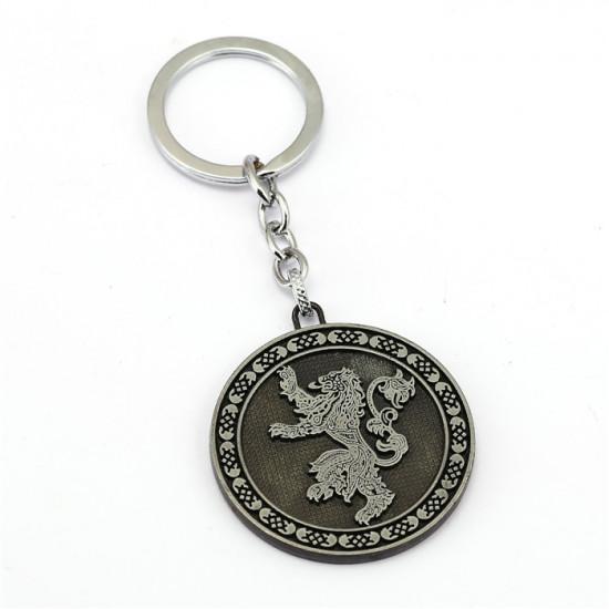 Klíčenka Game of Thrones (Hra o trůny) - Lannister mince (stříbrná)