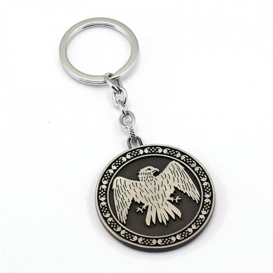 Klíčenka Game of Thrones (Hra o trůny) - Arryn mince (stříbrná)