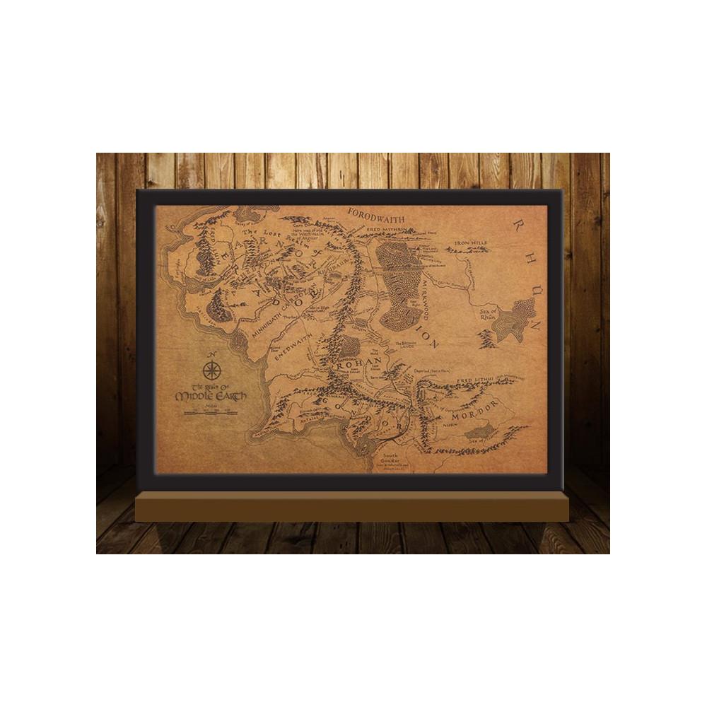 Mapa Středozemě - Pán prstenů ( (The Lord of the Rings)