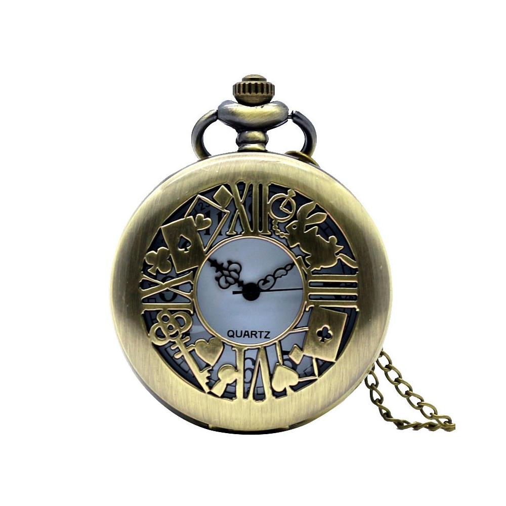 Kapesní hodinky - Alenka v říši divů (Alice in Wonderland) retro