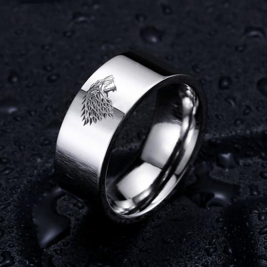 Prsten Game of Thrones (Hra o trůny) - Stark (stříbrný)