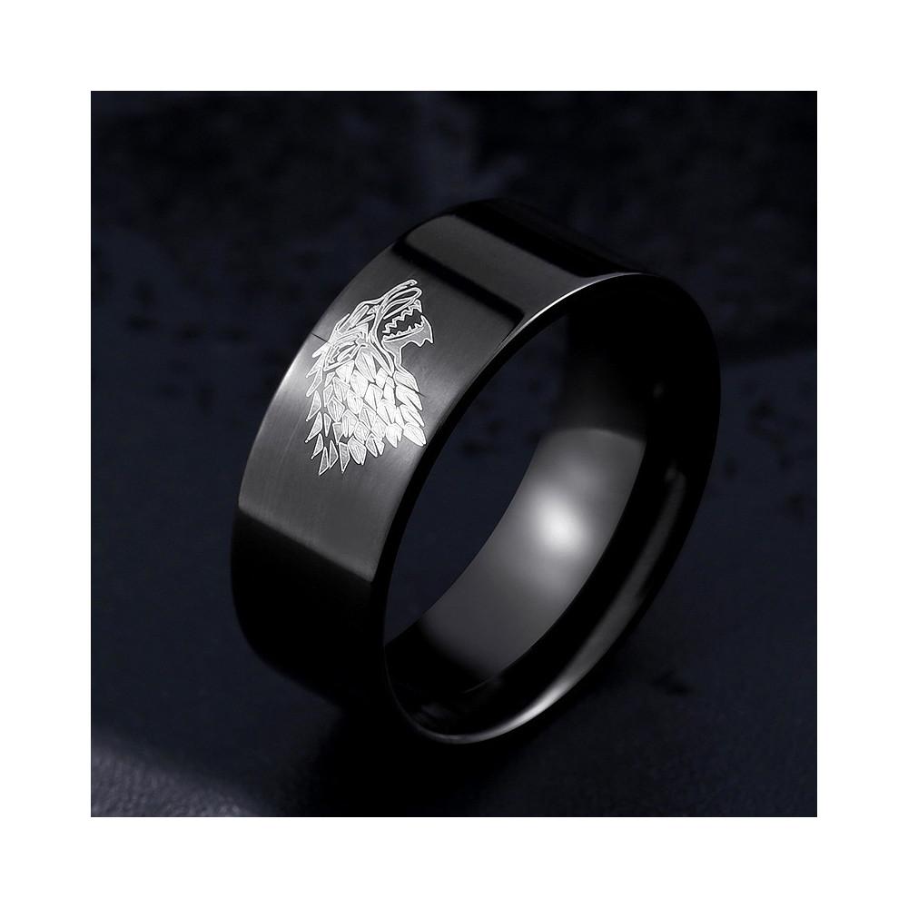 Prsten Game of Thrones (Hra o trůny) - Stark (černý)