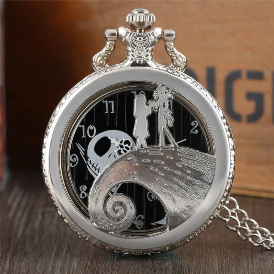 Kapesní hodinky - Ukradené Vánoce bílé