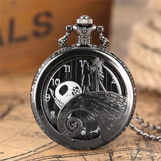 Kapesní hodinky - Ukradené Vánoce (stříbrné)