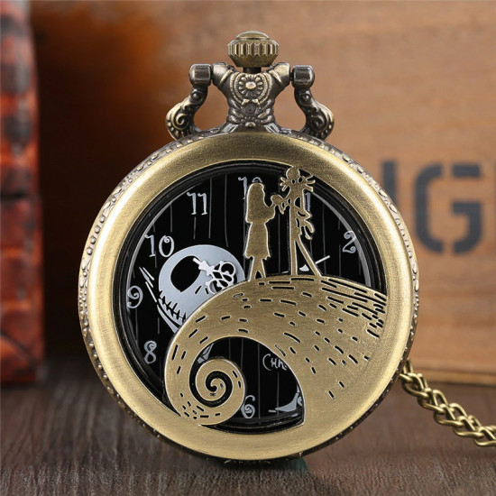Kapesní hodinky - Ukradené Vánoce (zlaté)