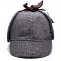 Čepice Sherlock Holmes (šedá)