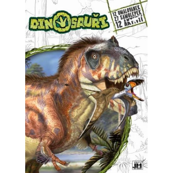 Omalovánky A4+ Dinosauři