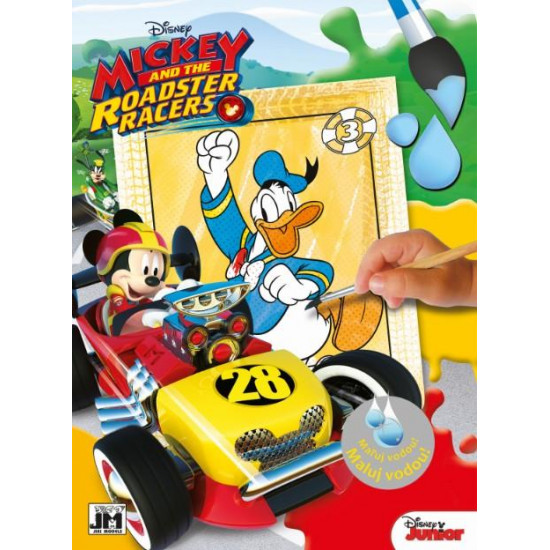 Omalovánky maluj vodou Mickeyho klubík