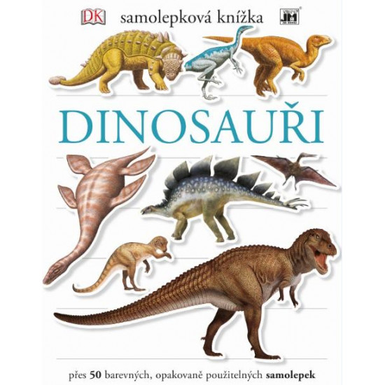 Samolepkové knížky -dinosauři