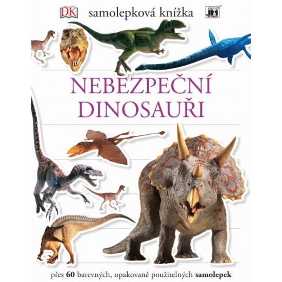 Samolepkové knížky Nebezpeční dinosauři