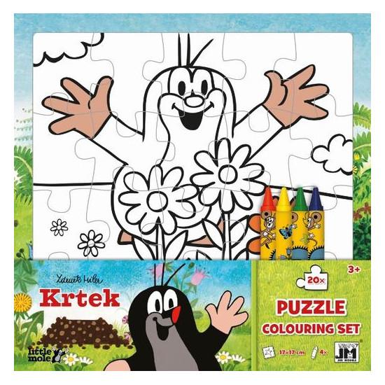 Omal. puzzle s voskovkami Krtek