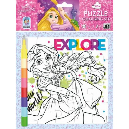 Omal. puzzle s voskovkami Disney Princezny