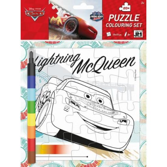 Omal. puzzle s voskovkami Auta