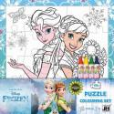 Omal. puzzle s voskovkami Ledové království