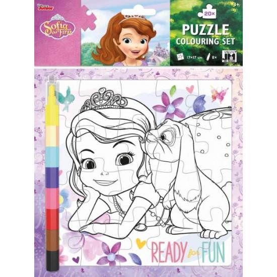 Omal. puzzle s voskovkami Sofie První
