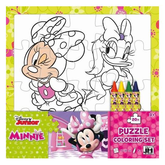 Omal. puzzle s voskovkami Minnie