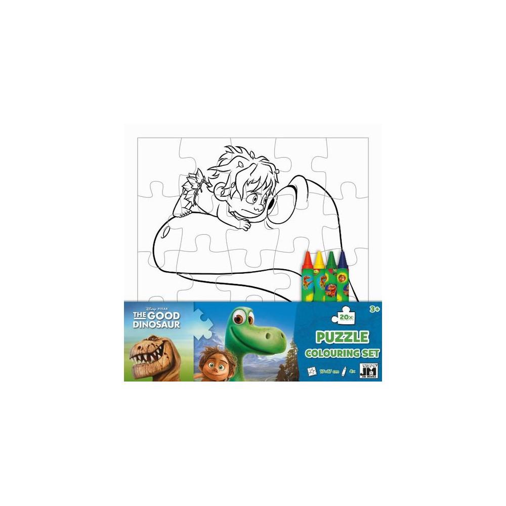 Omal. puzzle s voskovkami Hodný dinosaurus