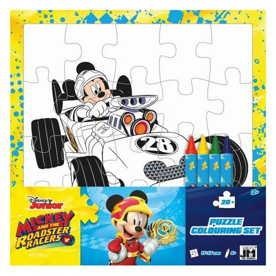 Omal. puzzle s voskovkami Mickeyho klubík