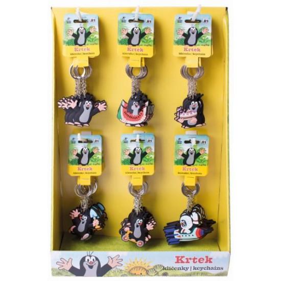 3D klíčenky na kart. stojanu Krtek
