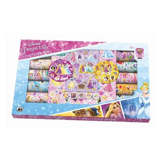 Samolepkový box 555 ks Disney Princezny